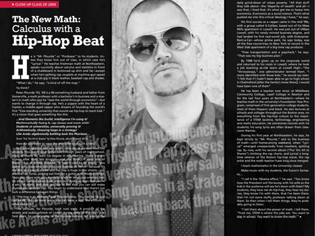 UMass-Lowell Alumni Magazine Feature-The New Math: Calculus with a Hip-Hop Beat
