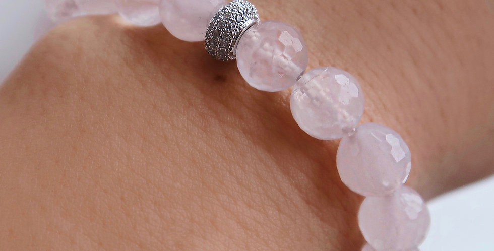 Faceted Rose Quartz Bracelet