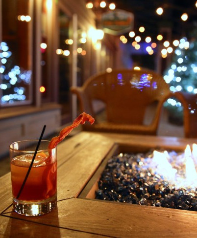Try our famous Makers Mark Bacon Old Fashion as you sit on our patio