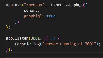 Express Graphql Connection