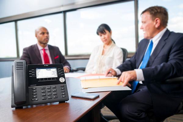 Mitel 6930 on Meeting Desk.jpeg