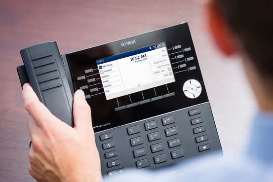 Mitel 6930 IP Phone on Desk