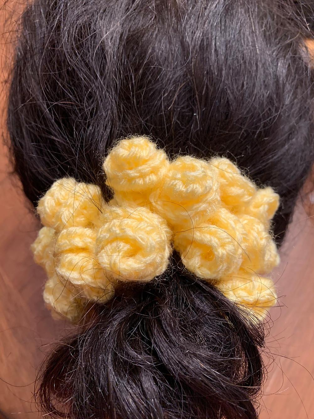 rose scrunchie crochet pattern