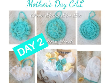 Mother's Day CAL - Washcloths - Day 2
