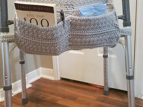 How to Crochet a Walker Pocket - walker tote bag