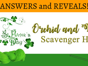 Answers for St. Patrick's Day Scavenger Hunt