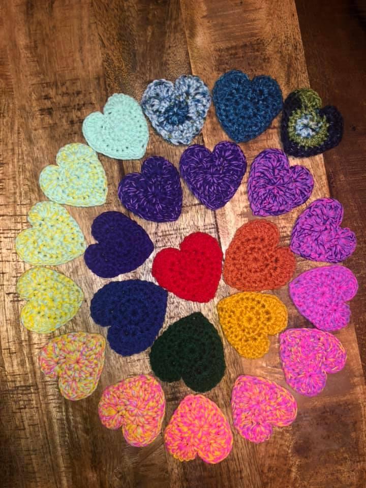 hearts valentines day crochet pattern