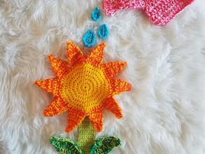 How to crochet the Sunflowers & Sunshine Pattern Pack