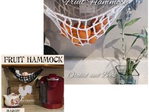 How to Crochet an Easy Kitchen Fruit Hammock