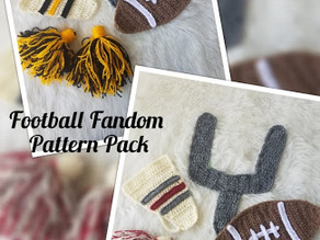 Crochet team spirit for your favorite Football Team!