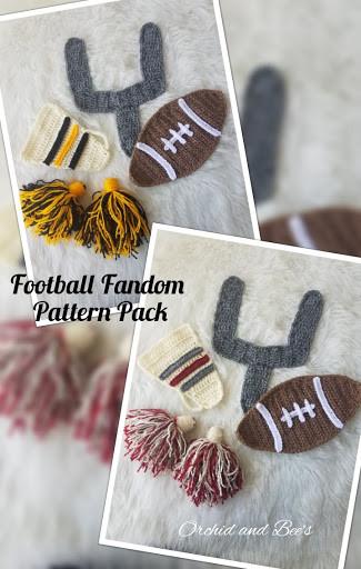 Football Crochet Superbowl Crochet Pattern Applique