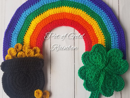 How to crochet an applique for St. Patrick's Day