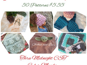 Thanksgiving Super Sale! 50 Patterns for $5.55