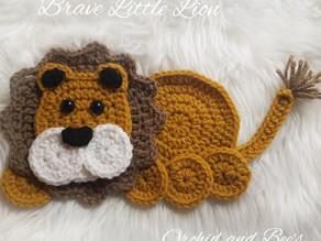 How to crochet the Brave Little Lion Applique