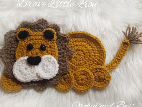 How to crochet the Brave Little Lion Applique