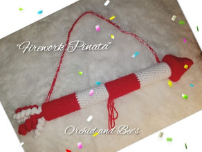 """How to crochet a """"Firework Pinata"""" for New Years!"""