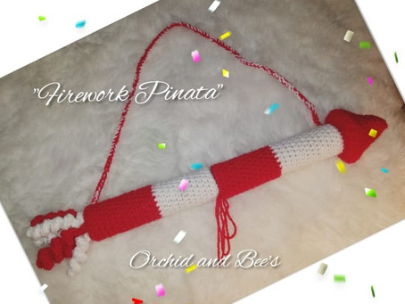 "How to crochet a ""Firework Pinata"" for New Years!"