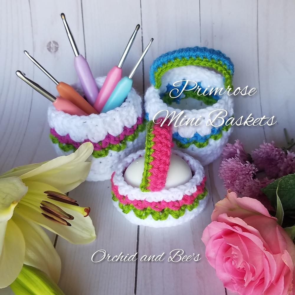 basket mini basket Easter basket crochet basket pattern  baskets