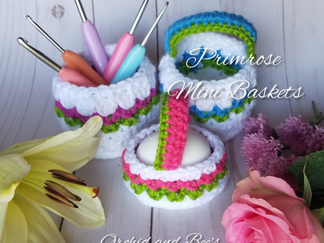 How to Crochet the Primrose Mini Baskets