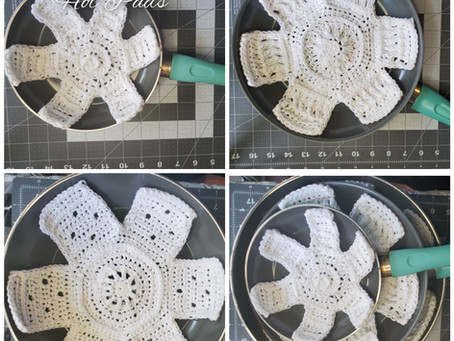 How to Crochet Pan Savers / Liners / Hot Pads