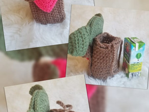 How to crochet cute Valentine's Treat Holders