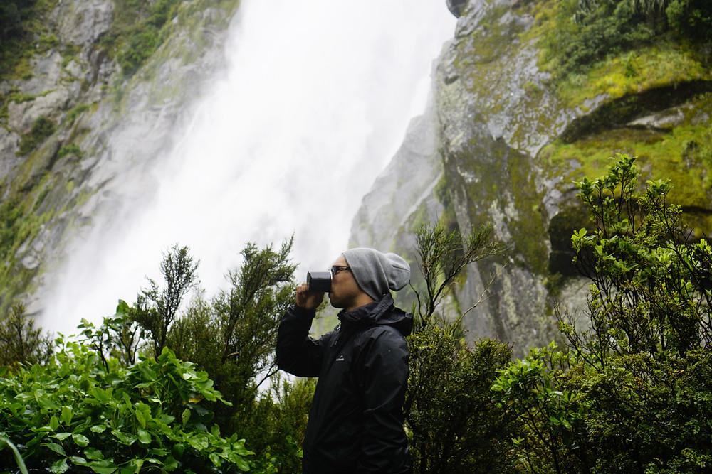 Aeropress and Blueberry Waterfalls