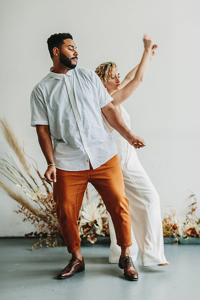 biracial couple dancing at elopement los angeles