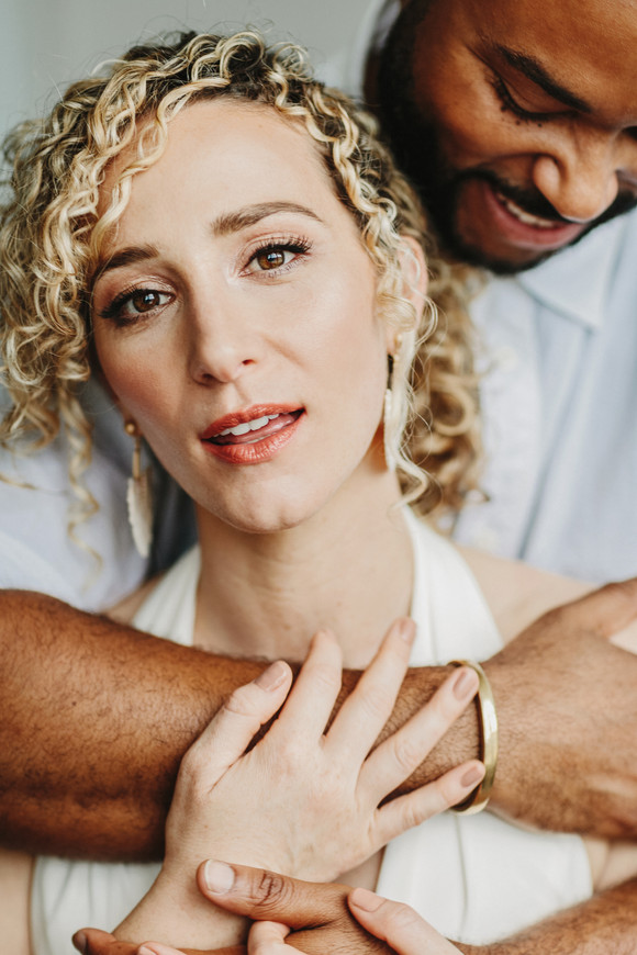curly hair bridal inspiration