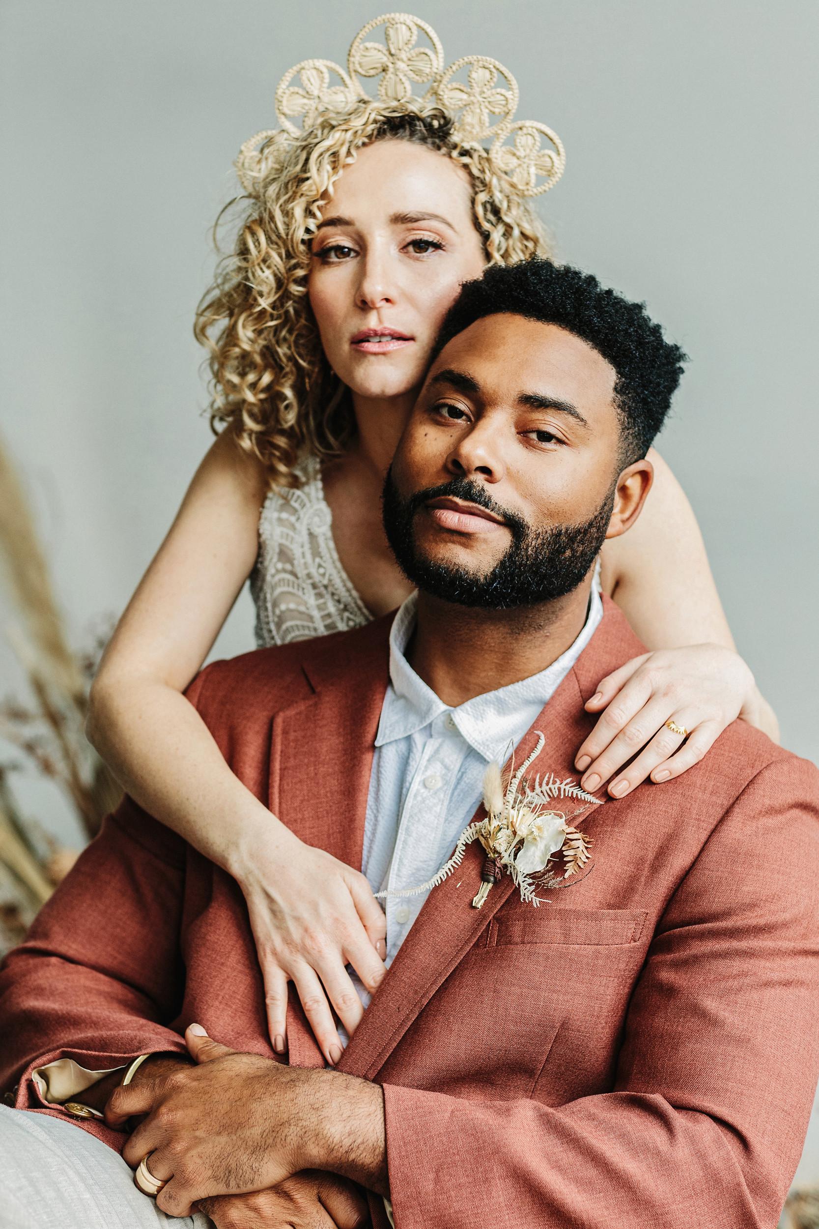biracial couple elopement photography