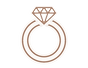 engagement ring line icon