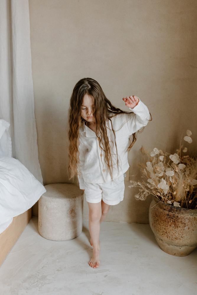 kids linen pajamas lifestyle brand photographer