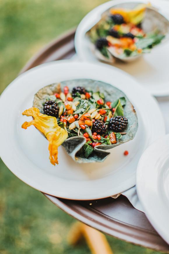 quinta real oaxaca wedding dinner food photography