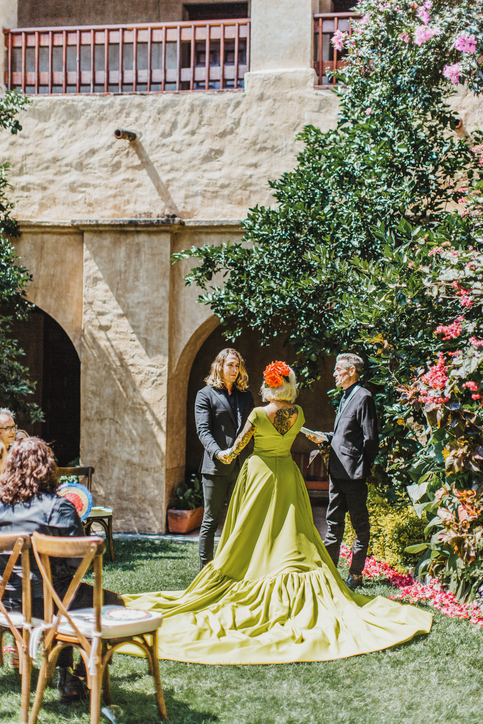 Quinta Real Oaxaca Mexico courtyard wedding