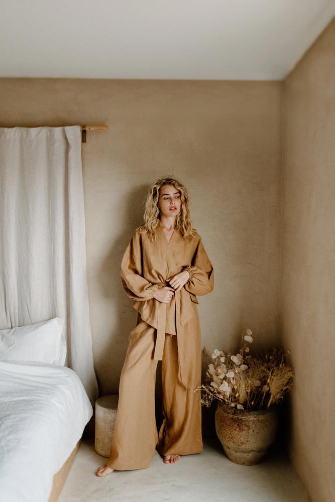 linen robe lifestyle brand photographer