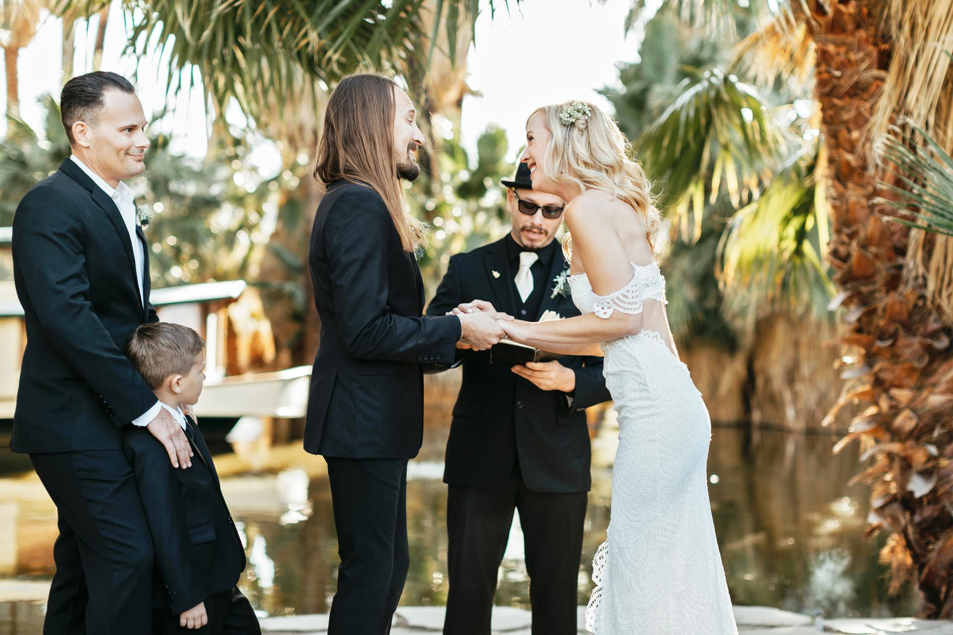 twenty nine palms in wedding ceremony
