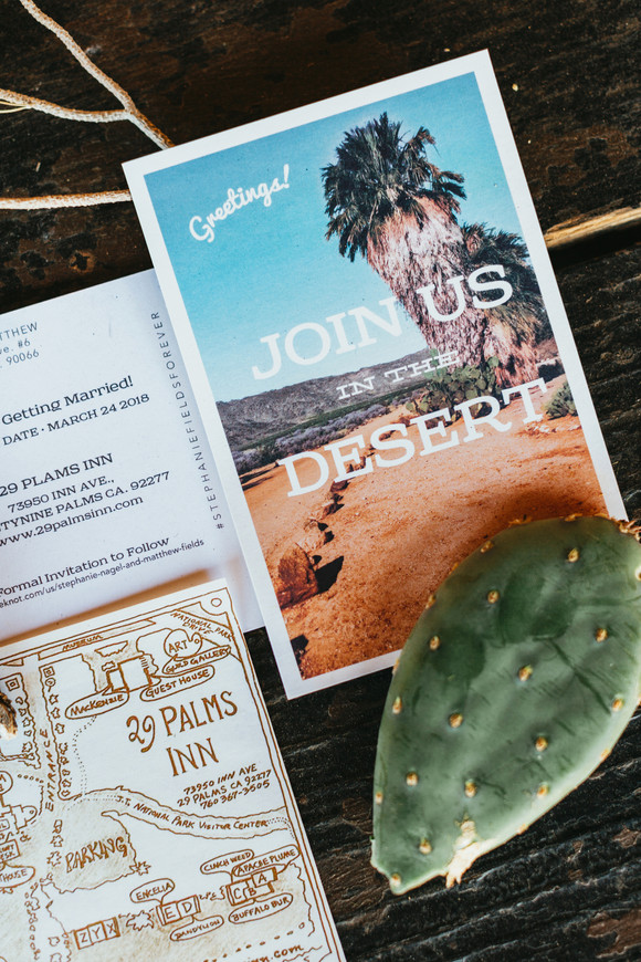 join us in the desert wedding invitation