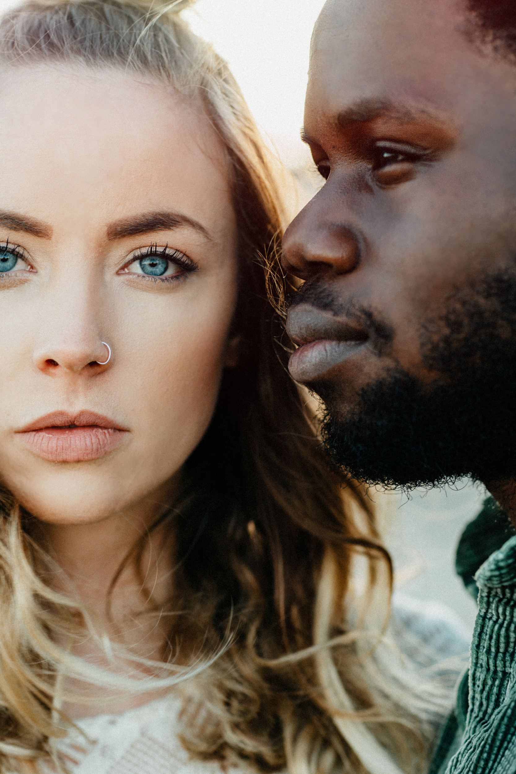 biracial couple accurate skin tone photographer