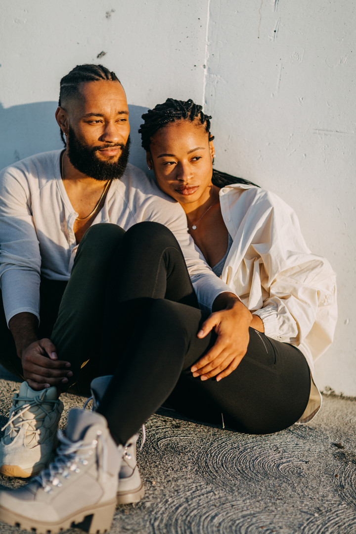 black couple accurate skin tone engagement photos