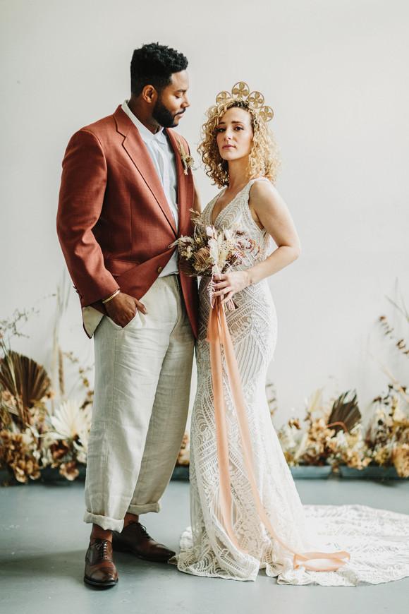 earthy bride and groom san francisco elopement