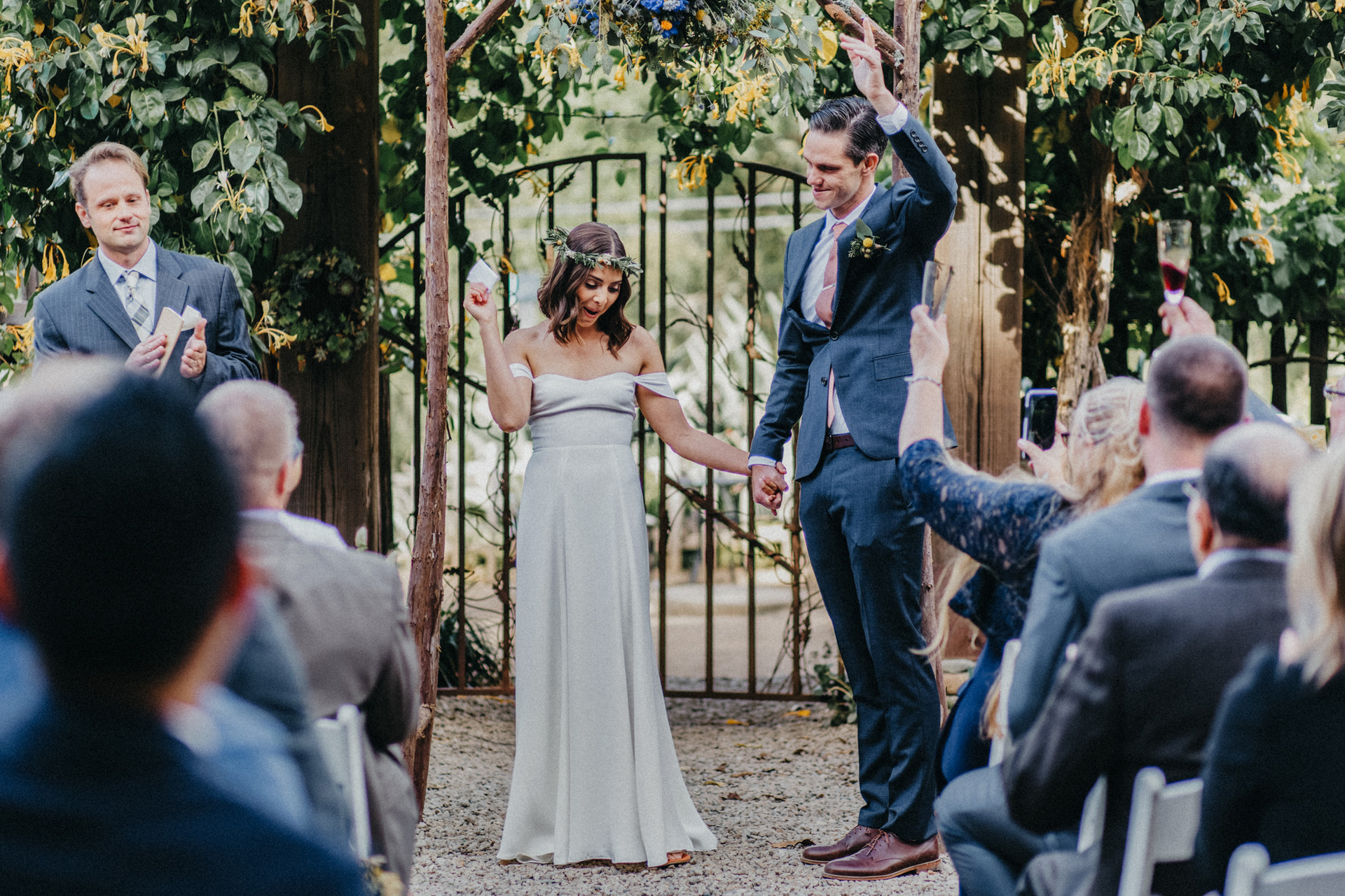 just married big sur bakery wedding photographer