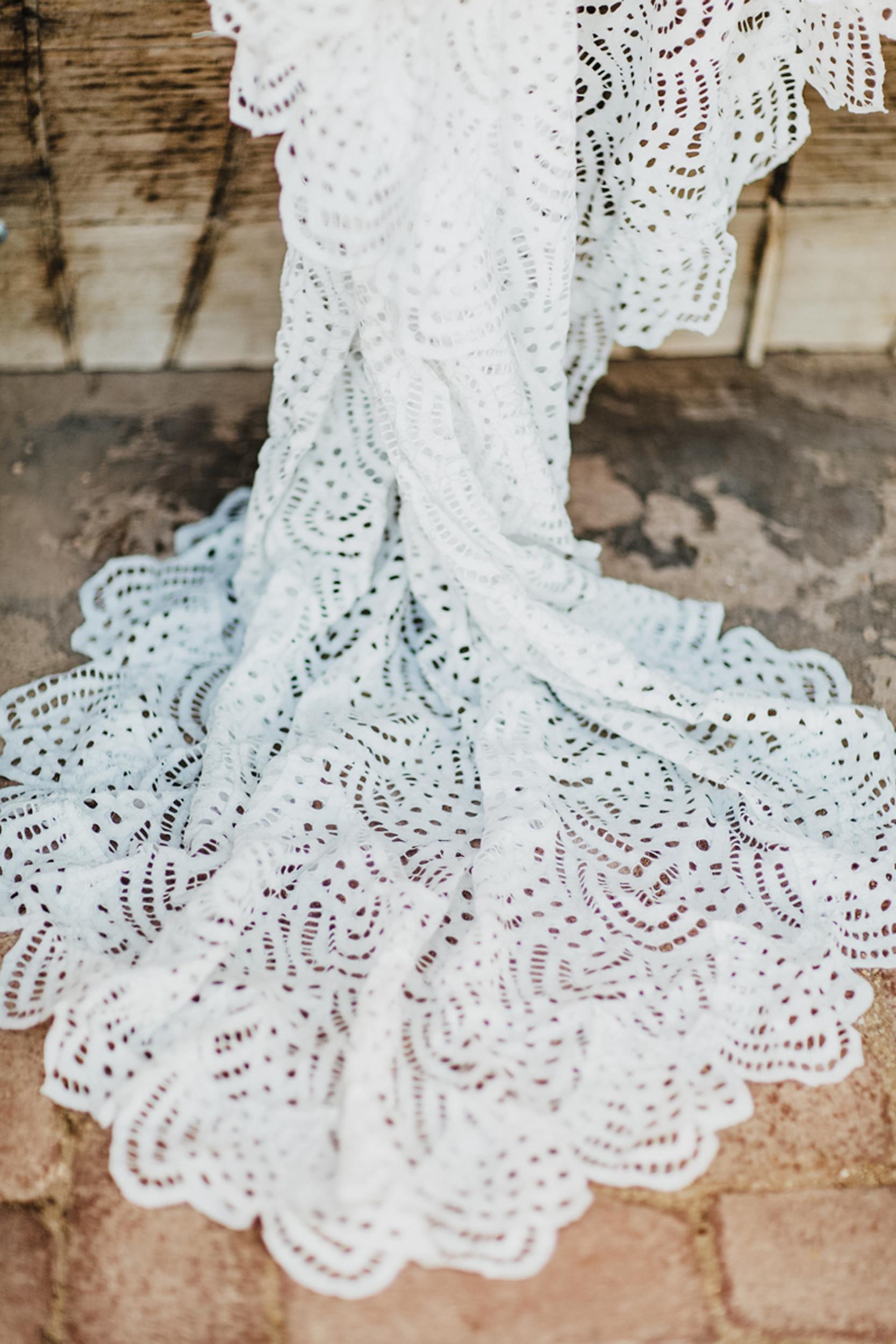 grace loves lace wedding dress train