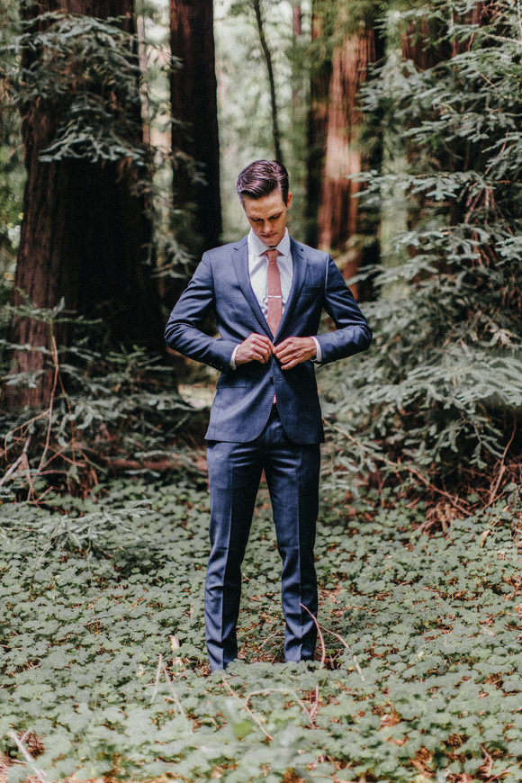 groom getting ready redwood forest