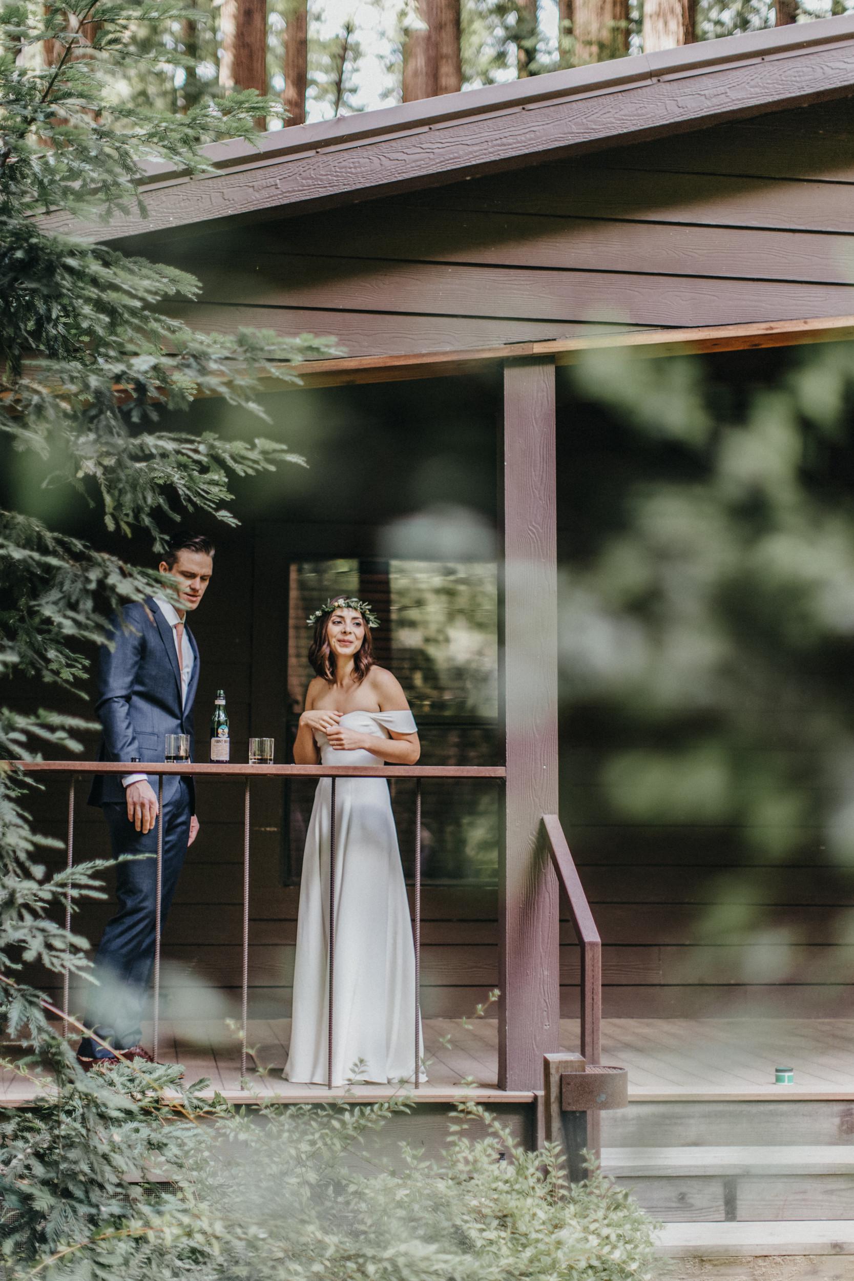 big sur glen oaks wedding elopement yurt