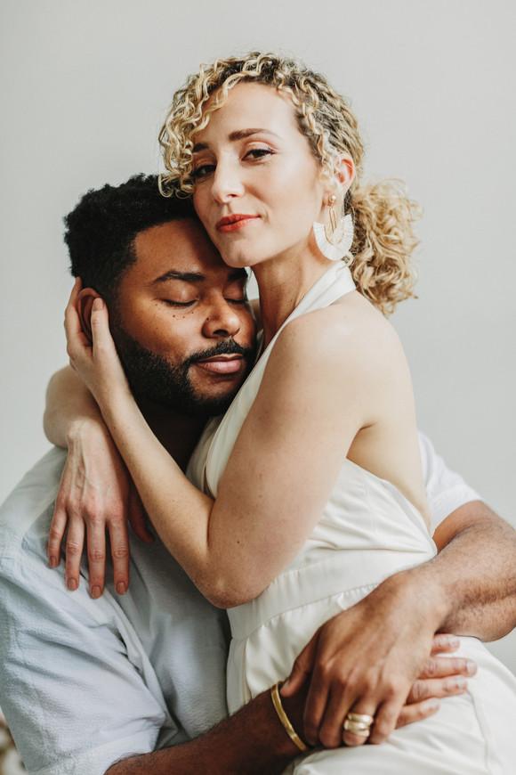 biracial couple natural elopement photography