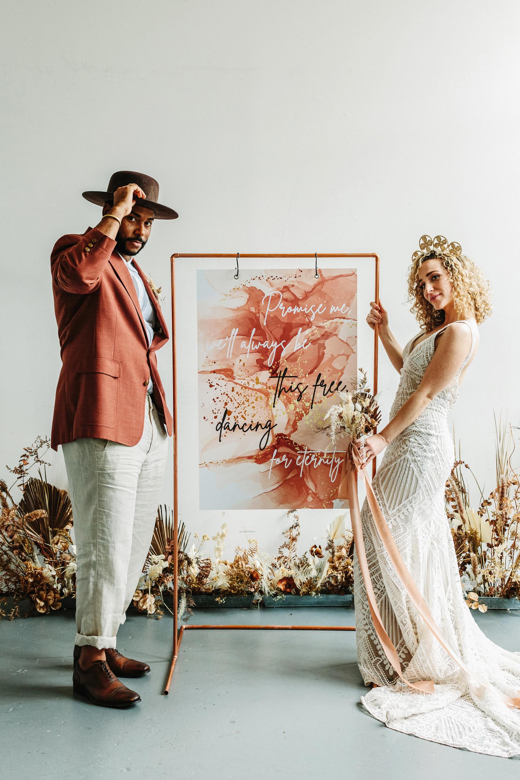 wedding calligraphy sign