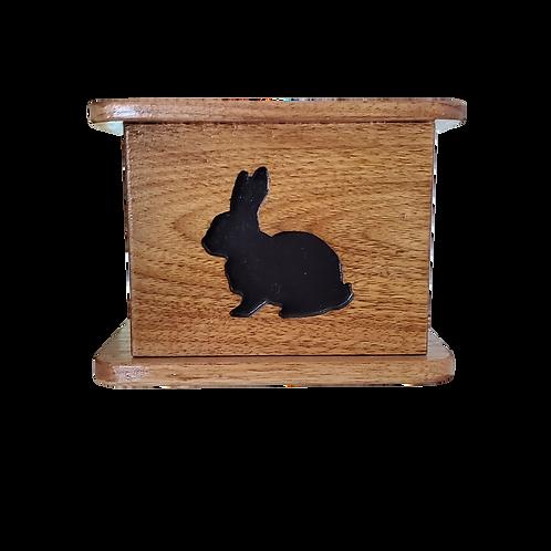 Custom Bunny Wood Urn