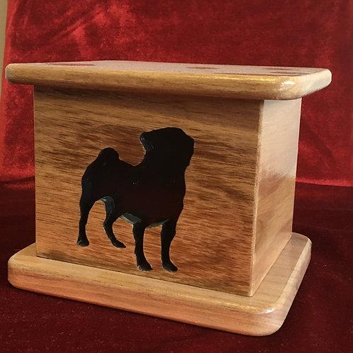 Pug Wood Urn