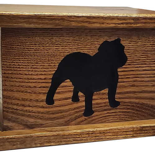 Bulldog Wood Urn
