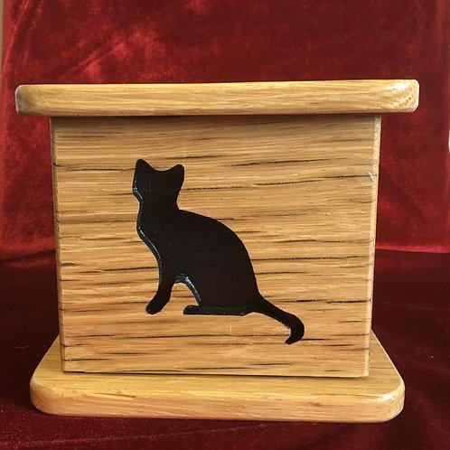 Custom Wood Cat Urn