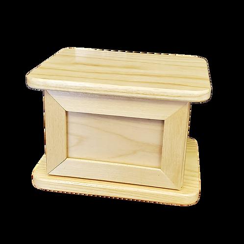 Wood Urn w/ Magnet Frame